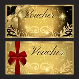 Voucher, Gift certificate, Coupon template Royalty Free Stock Image
