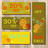 Voucher, Gift certificate, Coupon template for invitation, banner, ticket. Royalty Free Stock Photography