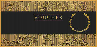 Voucher, Gift certificate, Coupon template. Scroll stock illustration
