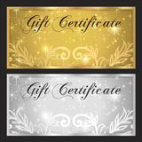 Voucher, Gift certificate, Coupon template Stock Image