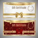 Voucher, Gift certificate, Coupon template stock illustration