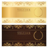 Voucher, Gift certificate, Coupon, Ticket. Floral royalty free illustration