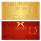 Voucher, Gift certificate, Coupon, ticket. Pattern vector illustration