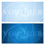 Voucher, Gift certificate, Coupon, ticket template. Guilloche pattern watermark Stock Image