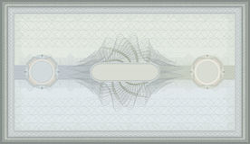 Voucher green blue guilloche certificate. Template Royalty Free Stock Photos