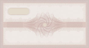 Voucher Guilloche rose. Voucher Guilloche pink rose coupon certificate template security Royalty Free Stock Image