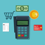 Voucher machine electronic commerce Royalty Free Stock Photos