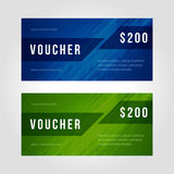 Voucher template abstract design. Vector illustration Royalty Free Stock Images
