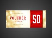 Voucher template abstract lght design Stock Photos