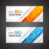 Voucher template abstract waves design Royalty Free Stock Photography