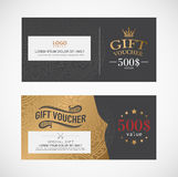 Voucher template. Royalty Free Stock Image