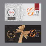 Voucher template with premium vintage pattern. Stock Images