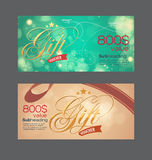 Voucher template with premium vintage pattern. Royalty Free Stock Image