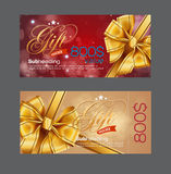 Voucher template with premium vintage pattern. Stock Image
