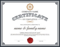 Voucher template with premium vintage pattern. Royalty Free Stock Images