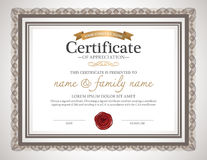 Voucher template with premium vintage pattern. Royalty Free Stock Photo
