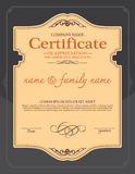 Voucher template with premium vintage pattern. Royalty Free Stock Photos
