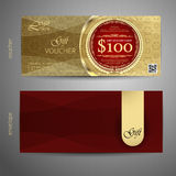 Voucher template with premium vintage pattern. vector Royalty Free Stock Images