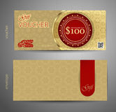 Voucher template with premium vintage pattern. vector Royalty Free Stock Photo