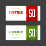 Voucher template retro design vector Royalty Free Stock Images