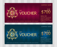 Voucher vector illustration, Gift voucher template Stock Photography