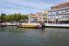 Vouga flod i Aveiro, Portugal Royaltyfri Fotografi