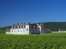 Vougeot. Clos de Vougeot castle - Burgundy wine region, France stock image