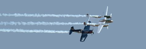 Free Vought Corsair F4U And Lockheed Lightning. Royalty Free Stock Images - 123594139