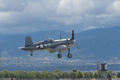 Vought F4U-1A Corsair on display Stock Photography