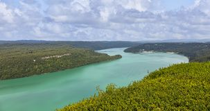 Vouglans湖-朱拉,法国 库存图片
