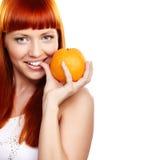 Voulez à l'orange ? photo stock