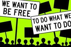 Voulez être libre Images libres de droits