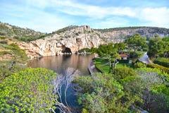 Vouliagmeni lake in Attica Greece - greek lake Royalty Free Stock Photos