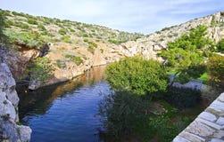 Vouliagmeni lake in Attica Greece Royalty Free Stock Photo