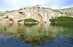 Vouliagmenimeer in Attica Greece - Grieks meer Royalty-vrije Stock Afbeeldingen