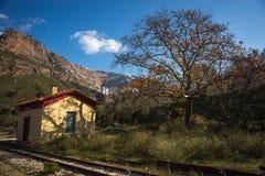 Vouraikos klyfta, Peloponnese, Grekland Royaltyfria Foton