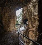 Vouraikos klyfta, Peloponnese, Grekland Arkivbilder