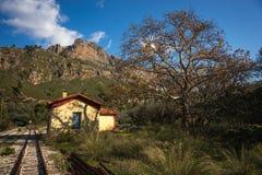 Vouraikos klyfta, Peloponnese, Grekland Royaltyfri Bild