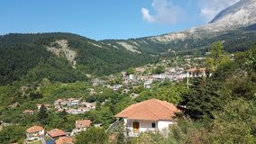 Vourgareli village in Epirus Arta Greece. Vourgareli village summer season  in Epirus Arta Greece Stock Image