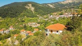 Vourgareli village in Epirus Arta Greece. Vourgareli village summer season in Epirus Arta Greece royalty free stock image