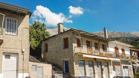 Vourgarelidorp in Epirus Arta Greece Royalty-vrije Stock Fotografie