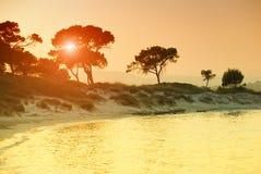 Vourvorou beach in Greece stock image