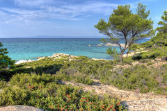 Vourvourou - Orange beach, Sithonia, Greece Stock Photos