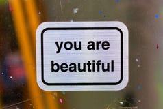 Vous êtes de beaux signes photo stock