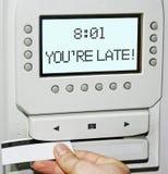 Vous êtes en retard ! Images stock