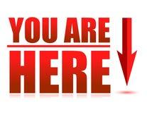 Vous êtes ici Photo libre de droits