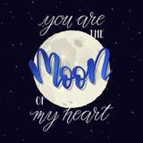 Vous êtes la lune de mon coeur Image libre de droits
