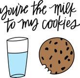 Vous êtes le lait à mes biscuits Photo libre de droits