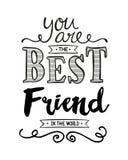 Vous êtes le meilleur ami dans le monde Image libre de droits
