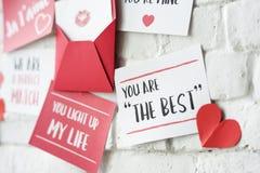 Vous êtes le meilleur amour de carte de voeux Photo libre de droits